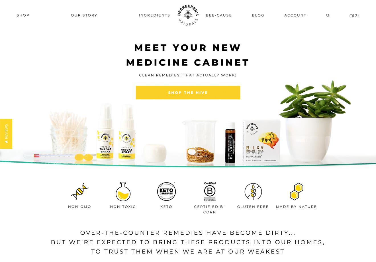 Beekeeper's Naturals homepage