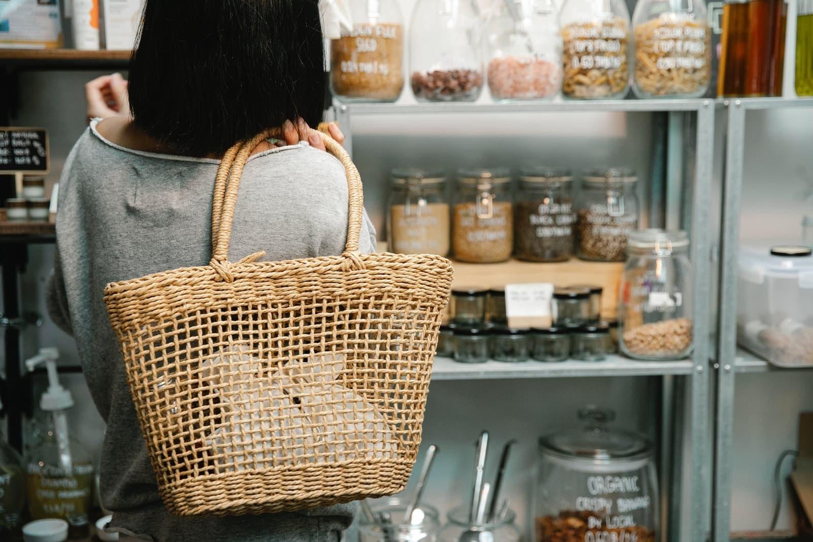 consumer shopping for bulk items